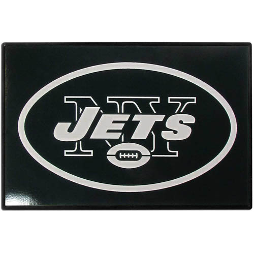 New York Jets Game Day Wiper Flag - Our New York Jets Game Day Wiper Flag is the first ever, sign-in-motion, that will display your team spirit as you're cruising the streets on game day! Keep your flag up year-round and swap out the interchangeable flag when needed. The flag easily attaches to the top of your windshield wiper or back of your bike. Remember to remove decal plate when entering the carwash.