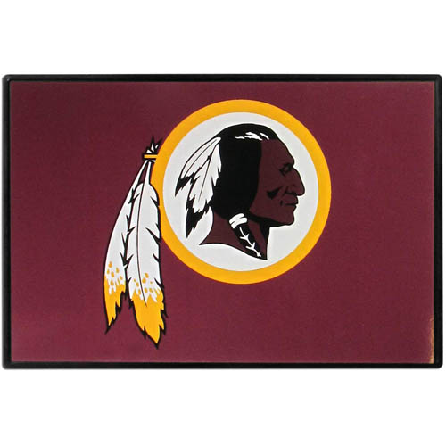 Washington Redskins Game Day Wiper Flag - Our Washington Redskins Game Day Wiper Flag is the first ever, sign-in-motion, that will display your team spirit as you're cruising the streets on game day! Keep your flag up year-round and swap out the interchangeable flag when needed. The flag easily attaches to the top of your windshield wiper or back of your bike. Remember to remove decal plate when entering the carwash.