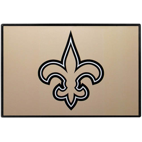 New Orleans Saints Game Day Wiper Flag - Our New Orleans Saints Game Day Wiper Flag is the first ever, sign-in-motion, that will display your team spirit as you're cruising the streets on game day! Keep your flag up year-round and swap out the interchangeable flag when needed. The flag easily attaches to the top of your windshield wiper or back of your bike. Remember to remove decal plate when entering the carwash.