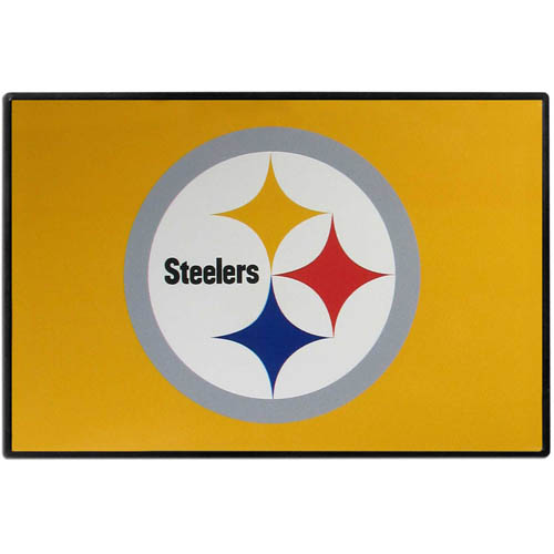 Pittsburgh Steelers Game Day Wiper Flag - Our Pittsburgh Steelers Game Day Wiper Flag is the first ever, sign-in-motion, that will display your team spirit as you're cruising the streets on game day! Keep your flag up year-round and swap out the interchangeable flag when needed. The flag easily attaches to the top of your windshield wiper or back of your bike. Remember to remove decal plate when entering the carwash.