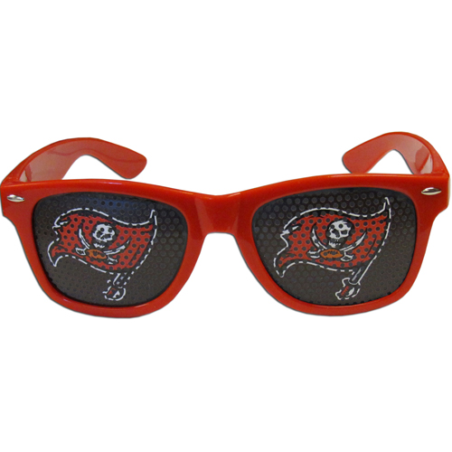 Tampa Bay Buccaneers Officially licensed NFL product - Our officially licensed NFL game day s are the perfect accessory for the devoted Chicago Bears fan! The sunglasses have durable polycarbonate frames with flex hinges for comfort and damage resistance. The lenses feature brightly colored team clings that are perforated for visibility. Officially licensed NFL product Licensee: Siskiyou Buckle .com