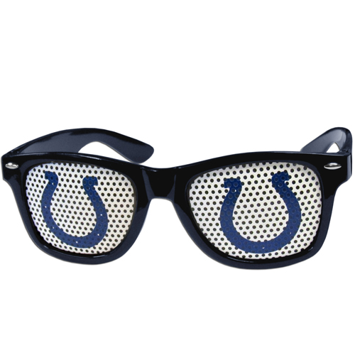 Colts Game Day  Sunglasses - Our officially licensed NFL game day s are the perfect accessory for the devoted Indianapolis Colts fan! The sunglasses have durable polycarbonate frames with flex hinges for comfort and damage resistance. The lenses feature brightly colored team clings that are perforated for visibility. Officially licensed NFL product Licensee: Siskiyou Buckle Thank you for visiting CrazedOutSports.com