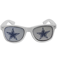 Dallas Cowboys Game Day Shades - Our officially licensed game day shades are the perfect accessory for the devoted Dallas Cowboys fan! The sunglasses have durable polycarbonate frames with flex hinges for comfort and damage resistance. The lenses feature brightly colored team clings that are perforated for visibility. Officially licensed NFL product Licensee: Siskiyou Buckle .com