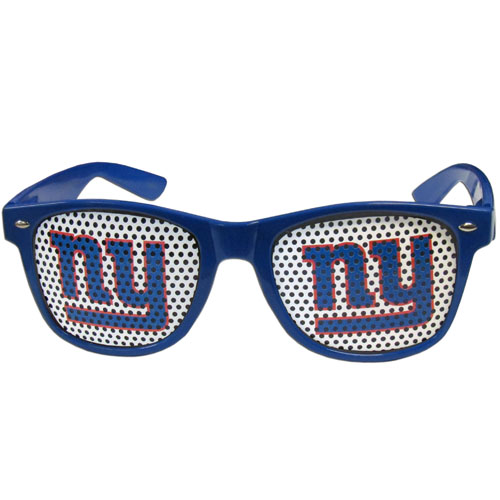 New York Giants Game Day  Sunglasses - Our officially licensed NFL game day s are the perfect accessory for the devoted New York Giants fan! The sunglasses have durable polycarbonate frames with flex hinges for comfort and damage resistance. The lenses feature brightly colored team clings that are perforated for visibility. Officially licensed NFL product Licensee: Siskiyou Buckle Thank you for visiting CrazedOutSports.com