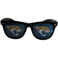 Jacksonville Jaguars Game Day Shades - Our officially licensed NFL game day shades are the perfect accessory for the devoted Jacksonville fan! The sunglasses have durable polycarbonate frames with flex hinges for comfort and damage resistance. The lenses feature brightly colored team clings that are perforated for visibility. Officially licensed NFL product Licensee: Siskiyou Buckle Thank you for visiting CrazedOutSports.com