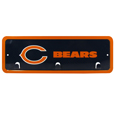 Chicago Bears Wall Mounted Key Rack - This 9 inch key rack has bright team graphics and 3 pegs to hang key chain from. The stamped aluminium frame is light weight and easy to hang.