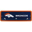 Denver Broncos Wall Mounted Key Rack - This 9 inch key rack has bright team graphics and 3 pegs to hang key chain from. The stamped aluminium frame is light weight and easy to hang.