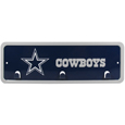 Dallas Cowboys Wall Mounted Key Rack - This 9 inch key rack has bright team graphics and 3 pegs to hang key chain from. The stamped aluminium frame is light weight and easy to hang.