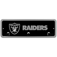 Oakland Raiders Wall Mounted Key Rack - This 9 inch key rack has bright team graphics and 3 pegs to hang key chain from. The stamped aluminium frame is light weight and easy to hang.