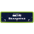 Seattle Seahawks Wall Mounted Key Rack - This 9 inch key rack has bright team graphics and 3 pegs to hang key chain from. The stamped aluminium frame is light weight and easy to hang.