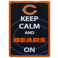 Chicago Bears Keep Calm Sign - One of the most enduring motivational signs of all time is now available with your beloved Chicago Bears logo. The 9 inch by 12 inch sign is a must have for any fan cave!