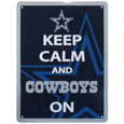 Dallas Cowboys Keep Calm Sign - One of the most enduring motivational signs of all time is now available with your beloved Dallas Cowboys logo. The 9 inch by 12 inch sign is a must have for any fan cave!