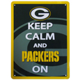 Green Bay Packers Keep Calm Sign - One of the most enduring motivational signs of all time is now available with your beloved Green Bay Packers logo. The 9 inch by 12 inch sign is a must have for any fan cave!