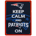 New England Patriots Keep Calm Sign - One of the most enduring motivational signs of all time is now available with your beloved New England Patriots logo. The 9 inch by 12 inch sign is a must have for any fan cave!