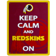Washington Redskins Keep Calm Sign - One of the most enduring motivational signs of all time is now available with your beloved Washington Redskins logo. The 9 inch by 12 inch sign is a must have for any fan cave!