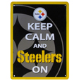Pittsburgh Steelers Keep Calm Sign - One of the most enduring motivational signs of all time is now available with your beloved Pittsburgh Steelers logo. The 9 inch by 12 inch sign is a must have for any fan cave!