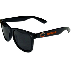 Chicago Bears Beachfarer Sunglasses - Our NFL Chicago Bears Beachfarer Sunglasses feature the Chicago Bears logo and Chicago Bears name silk screened on the arm of these great retro glasses.  400 UVA protection. Officially licensed NFL product Licensee: Siskiyou Buckle .com