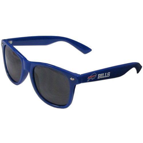 Buffalo Bills Beachfarer Sunglasses Sunglasses - Our NFL Buffalo Bills Beachfarer Sunglasses feature the Buffalo Bills logo and Buffalo Bills name silk screened on the arm of these great retro glasses.  400 UVA protection. Officially licensed NFL product Licensee: Siskiyou Buckle .com
