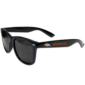 Denver Broncos Beachfarer Sunglasses - Our NFL Denver Broncos Beachfarer Sunglasses feature the Denver Broncos logo and Denver Broncos name silk screened on the arm of these great retro glasses.  400 UVA protection. Officially licensed NFL product Licensee: Siskiyou Buckle Thank you for visiting CrazedOutSports.com