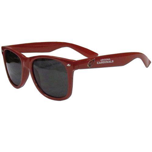 Arizona Cardinals Beachfarer Sunglasses - Our NFL Arizona Cardinals Beachfarer Sunglasses feature the Arizona Cardinals logo and Arizona Cardinals name silk screened on the arm of these great retro glasses.  400 UVA protection. Officially licensed NFL product Licensee: Siskiyou Buckle .com
