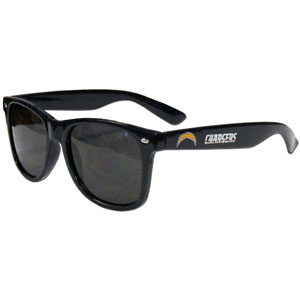 San Diego Chargers Beachfarer Sunglasses - These NFL San Diego Chargers Beachfarer sunglass feature the San Diego Chargers logo and San Diego Chargers silk screened on the arm of these great retro glasses.  400 UVA protection. Officially licensed NFL product Licensee: Siskiyou Buckle .com