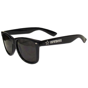 Dallas Cowboys Beachfarer Sunglasses - Our NFL Dallas Cowboys Beachfarer Sunglasses feature the Dallas Cowboys logo and Dallas Cowboys name silk screened on the arm of these great retro glasses.  400 UVA protection. Officially licensed NFL product Licensee: Siskiyou Buckle .com