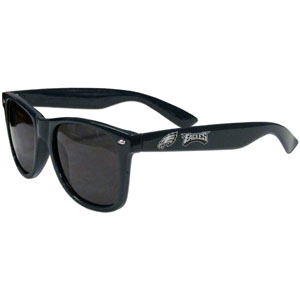 Philadelphia Eagles Beachfarer Sunglasses - Our NFL Philadelphia Eagles Beachfarer Sunglasses feature the Philadelphia Eagles logo and Philadelphia Eagles name silk screened on the arm of these great retro glasses.  400 UVA protection. Officially licensed NFL product Licensee: Siskiyou Buckle .com