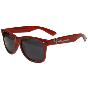 Atlanta Falcons Beachfarer Sunglasses - Our NFL Atlanta Falcons Beachfarer Sunglasses feature the Atlanta Falcons logo and Atlanta Falcons name silk screened on the arm of these great retro glasses.  400 UVA protection. Officially licensed NFL product Licensee: Siskiyou Buckle .com