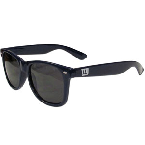 New York Giants Beachfarer Sunglasses - Our NFL New York Giants Beachfarer Sunglasses feature the New York Giants logo and New York Giants name silk screened on the arm of these great retro glasses.  400 UVA protection. Officially licensed NFL product Licensee: Siskiyou Buckle .com