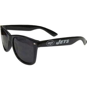 New York Jets Beachfarer Sunglasses - These NFL New York Jets Beachfarer Sunglasses feature the New York Jets logo and New York Jets name silk screened on the arm of these great retro glasses.  400 UVA protection. Officially licensed NFL product Licensee: Siskiyou Buckle Thank you for visiting CrazedOutSports.com