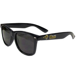 Los Angeles Rams Beachfarer Sunglasses - Our NFL Los Angeles Rams Beachfarer Sunglasses feature the Los Angeles Rams logo and Los Angeles Rams name silk screened on the arm of these great retro glasses.  400 UVA protection. Officially licensed NFL product Licensee: Siskiyou Buckle .com
