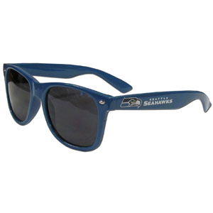 Seattle Seahawks Beachfarer Sunglasses - These NFL Seattle Seahawks Beachfarer Sunglasses feature the Seattle Seahawks logo and Seattle Seahawks name silk screened on the arm of these great retro glasses.  400 UVA protection. Officially licensed NFL product Licensee: Siskiyou Buckle .com