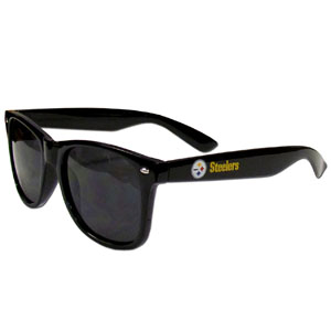 Pittsburgh Steelers Beachfarer Sunglasses - These NFL Pittsburgh Steelers Beachfarer Sunglasses feature the Pittsburgh Steelers logo and Pittsburgh Steelers name silk screened on the arm of these great retro glasses.  400 UVA protection. Officially licensed NFL product Licensee: Siskiyou Buckle .com