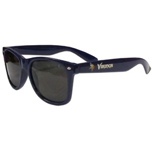 Minnesota Vikings Beachfarer Sunglasses Sunglasses - These NFL Minnesota Vikings Beachfarer Sunglasses feature the Minnesota Vikings logo and Minnesota Vikings name silk screened on the arm of these great retro glasses.  400 UVA protection. Officially licensed NFL product Licensee: Siskiyou Buckle .com