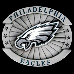 "Oversized NFL Buckle - Oversized - Philadelphia Eagles - Our NFL oversized belt buckle is carved and enameled in team colors. Features fine detailing and distinctive background. Measure 4 x 3 3/8"". Officially licensed NFL product Licensee: Siskiyou Buckle Thank you for visiting CrazedOutSports.com"