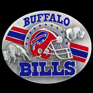 NFL Belt Buckle - Buffalo Bills  - This finely sculpted and enameled NFL team belt buckle contains exceptional 3D detailing. Siskiyou's unique buckle designs often become collector's items and are unequaled with the best craftsmanship.  Officially licensed NFL product Licensee: Siskiyou Buckle .com
