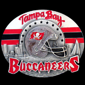 NFL Belt Buckle - Tampa Bay Buccaneers  - This finely sculpted and enameled NFL team belt buckle contains exceptional 3D detailing. Siskiyou's unique buckle designs often become collector's items and are unequaled with the best craftsmanship.  Officially licensed NFL product Licensee: Siskiyou Buckle .com