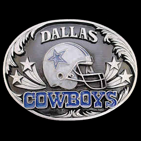 NFL Belt Buckle - Dallas Cowboys  - This finely sculpted belt buckle contains exceptional 3D detailing and diamond cut accents. Siskiyou's unique buckle designs often become collector's items and are unequaled with the best craftsmanship.   Officially licensed NFL product Licensee: Siskiyou Buckle Thank you for visiting CrazedOutSports.com