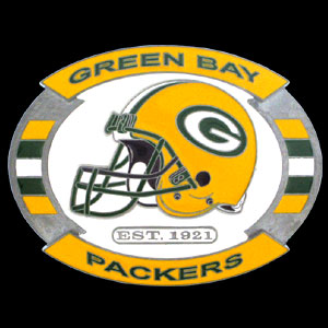 NFL Belt Buckle - Green Bay Packers  - This finely sculpted and enameled NFL team belt buckle contains exceptional 3D detailing. Siskiyou's unique buckle designs often become collector's items and are unequaled with the best craftsmanship.  Officially licensed NFL product Licensee: Siskiyou Buckle Thank you for visiting CrazedOutSports.com