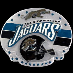 NFL Belt Buckle - Jacksonville Jaguars  - This finely sculpted and enameled NFL team belt buckle contains exceptional 3D detailing. Siskiyou's unique buckle designs often become collector's items and are unequaled with the best craftsmanship.  Officially licensed NFL product Licensee: Siskiyou Buckle Thank you for visiting CrazedOutSports.com