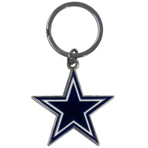NFL Key Chain - Dallas Cowboys - Our NFL chrome key chain is logo cut and enamel filled with a high polish chrome finish. Officially licensed NFL product Licensee: Siskiyou Buckle Thank you for visiting CrazedOutSports.com