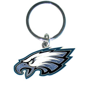 NFL Key Chain - Philadelphia Eagles - Our NFL chrome key chain is logo cut and enamel filled with a high polish chrome finish. Officially licensed NFL product Licensee: Siskiyou Buckle .com