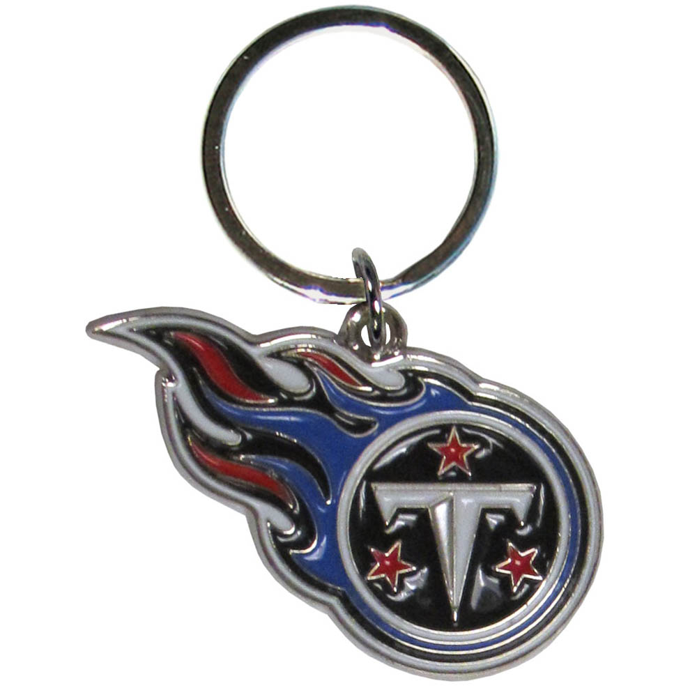 Tennessee Titans Enameled Key Chain - Our officially licensed chrome key chain have exceptional 3D detail that really sets this key chain apart from other Tennessee Titans key chains. The logo is finely carved and enamel filled with a high polish chrome finish.