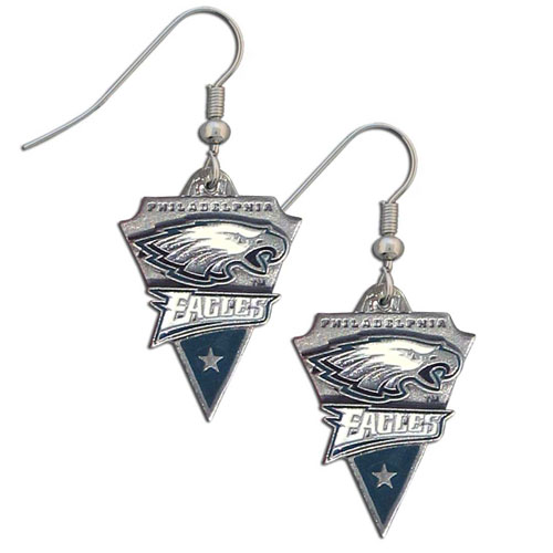 NFL Earrings - Philadelphia Eagles - Philadelphia Eagles enameled dangle NFL earrings. Check out our entire line of  jewelry and licensed collectibles! Officially licensed NFL product Licensee: Siskiyou Buckle .com