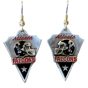 NFL Earrings - Atlanta Falcons - Atlanta Falcons enameled dangle NFL earrings. Check out our entire line of  jewelry and licensed collectibles! Officially licensed NFL product Licensee: Siskiyou Buckle .com
