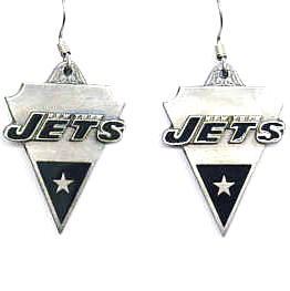 NFL Earrings - New York Jets - New York Jets enameled dangle NFL earrings. Check out our entire line of  jewelry and licensed collectibles! Officially licensed NFL product Licensee: Siskiyou Buckle Thank you for visiting CrazedOutSports.com