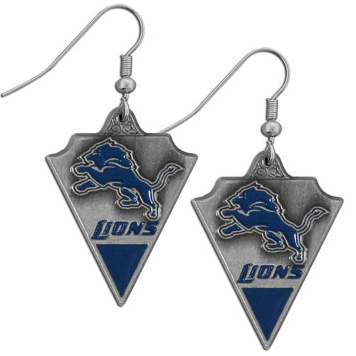 NFL Earrings - Detroit Lions - Enameled Team Earrings - Detroit Lions Officially licensed NFL product Licensee: Siskiyou Buckle .com