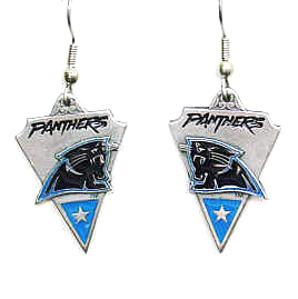 NFL Earrings - Carolina Panthers - Carolina Panthers enameled dangle NFL earrings. Check out our entire line of  jewelry and licensed collectibles! Officially licensed NFL product Licensee: Siskiyou Buckle .com