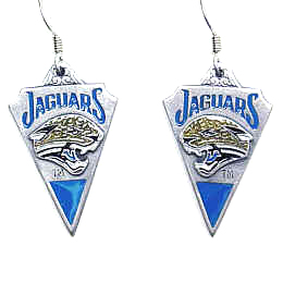 NFL Earrings - Jacksonville Jaguars - Jacksonville Jaguars enameled dangle NFL earrings. Check out our entire line of  jewelry and licensed collectibles! Officially licensed NFL product Licensee: Siskiyou Buckle Thank you for visiting CrazedOutSports.com