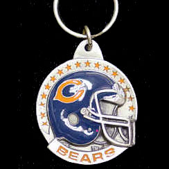 "NFL Team Helmet Key Ring - Chicago Bears - Chicago Bears team helmet design NFL key chain. Approx. 1 1/4"" Fob. Checkout our entire line of  licensed sports collectibles! Officially licensed NFL product Licensee: Siskiyou Buckle .com"
